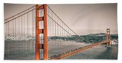 Golden Gate Bridge Selective Color Beach Towel
