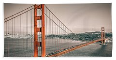 Golden Gate Bridge Selective Color Beach Towel