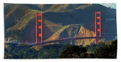 Beach Towel featuring the photograph Golden Gate Bridge by Steven Spak