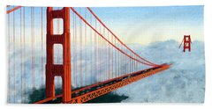 Golden Gate Bridge Sunset Beach Towel