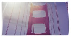 Beach Towel featuring the photograph Golden Gate Bridge The Iconic Landmark Of San Francisco by Jingjits Photography