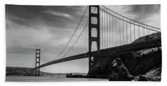 Golden Gate East Bw Beach Towel