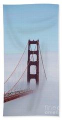 Beach Towel featuring the photograph Golden Gate Fogged - 3 by David Bearden