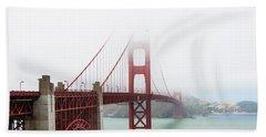Golden Gate In The Fog Beach Sheet