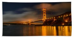 Golden Gate Night Beach Sheet