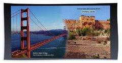 Golden Gate To Golden Gate Beach Towel