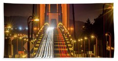 Golden Gate Traffic Beach Towel