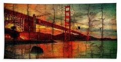 Golden Gate Weathered Beach Towel