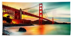 Golden Gateway Beach Towel