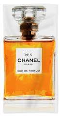 Golden Glow Of Chanel No. 5 Beach Towel