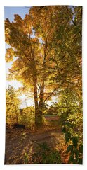 Golden Glow  Beach Towel