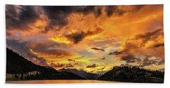 Golden Glow Sunset At Summit Cove Beach Towel