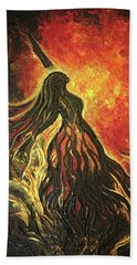 Golden Goddess Beach Towel