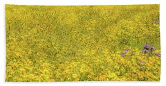 Beach Towel featuring the photograph Golden Hillside by Marc Crumpler
