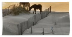 Golden Horses Beach Towel