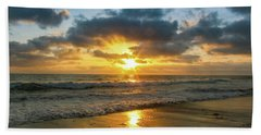Golden Hour At Grandview Beach Towel