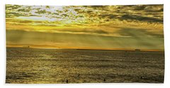 Beach Sheet featuring the photograph Golden Hour At Seal Beach by Tom Kelly