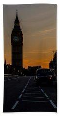 Golden Hour Big Ben In London Beach Towel