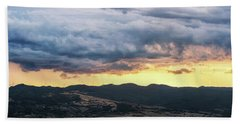 Golden Hour In Volterra Beach Towel
