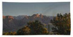 Beach Towel featuring the photograph Golden Hour On Thimble Peak by Dan McManus