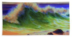Golden Hour Sea Beach Towel by Jeanette French