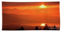 Beach Towel featuring the photograph Golden Hour by Tatsuya Atarashi