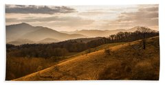 Grandfather Mountain Sunset - Moses Cone Blue Ridge Parkway Beach Sheet