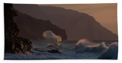 Golden Hour Wave Beach Towel