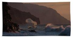 Golden Hour Wave Beach Sheet