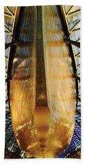 Golden Hull Of Cutty Sark Beach Sheet