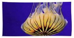 Golden Jellyfish Beach Sheet by Rosalie Scanlon