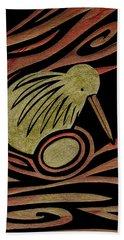 Golden Kiwi Beach Towel