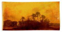 Golden Land Beach Towel