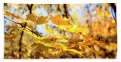 Beach Towel featuring the photograph Golden Leaves by Ivy Ho