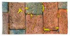 Golden Leaves On Boston Bricks Beach Sheet by Patricia E Sundik
