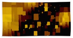 Beach Towel featuring the digital art Golden Light And Dark  by Shelli Fitzpatrick