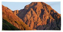 Golden Light Hits Bidean Nam Bian Beach Towel
