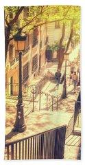 Golden Light In Montmartre, Paris Beach Towel