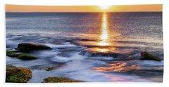 Golden Light Sunset, Rockport  Ma. Beach Towel