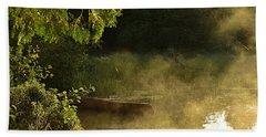 Golden Mist At Knife Lake Beach Towel