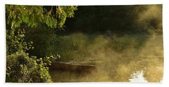 Golden Mist At Knife Lake Beach Sheet