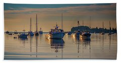 Beach Towel featuring the photograph Golden Morning In Tenants Harbor by Rick Berk