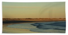 Golden Morning On Rhode Island Coast Beach Sheet by Nancy De Flon