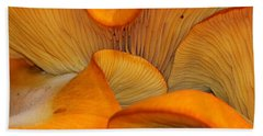 Golden Mushroom Abstract Beach Towel