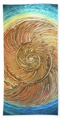 Golden Nautilus Beach Towel