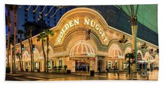 Golden Nugget Casino Entrance Beach Towel