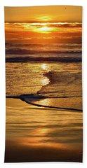 Golden Pacific Sunset Beach Towel