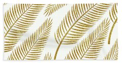 Golden Palm Beach Towel by Uma Gokhale