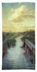 Golden Pathway Beach Towel by Linda Olsen