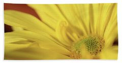 Golden Petals Beach Towel